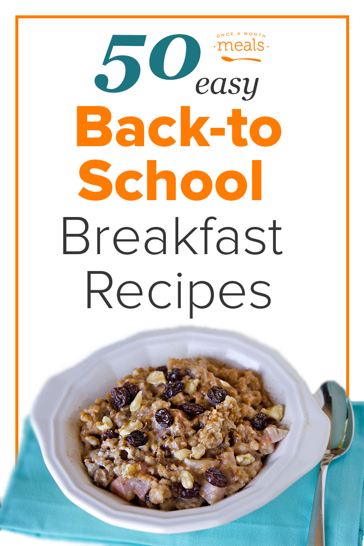 50 Easy Back-to-School Breakfast Freezer Recipes that are quick and easy - get out the door healthy and happy!