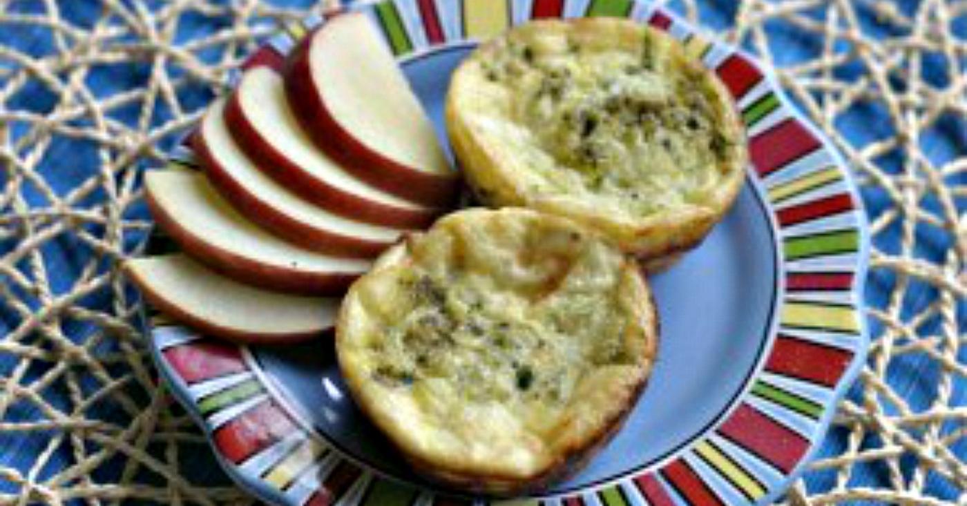 Crustless Zucchini and Pesto Mini-Quiches - Lunch Version ...