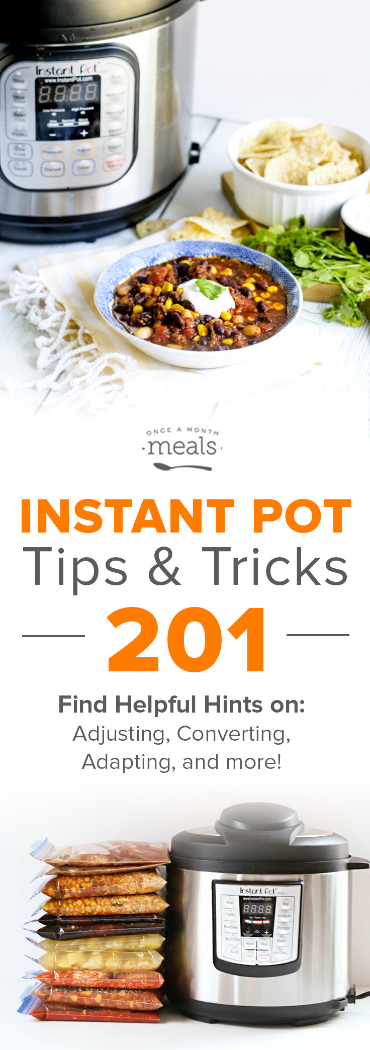 We are sharing our advanced Instant Pot tips and tricks on how to cook your freezer meals from frozen in the Instant Pot!