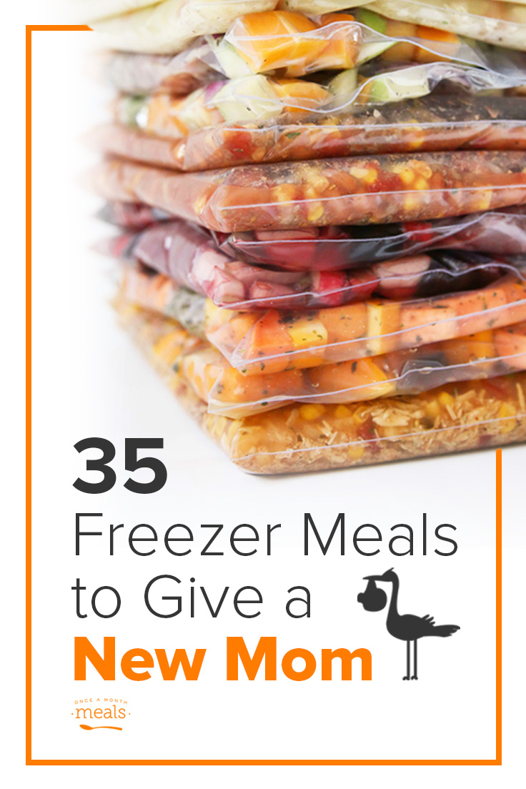 35 Freezer Meals to Give to a New Mom - breakfast, lunch, snacks, and dinner, plus Instant Pot recipes! Freezer meals will keep her sane.