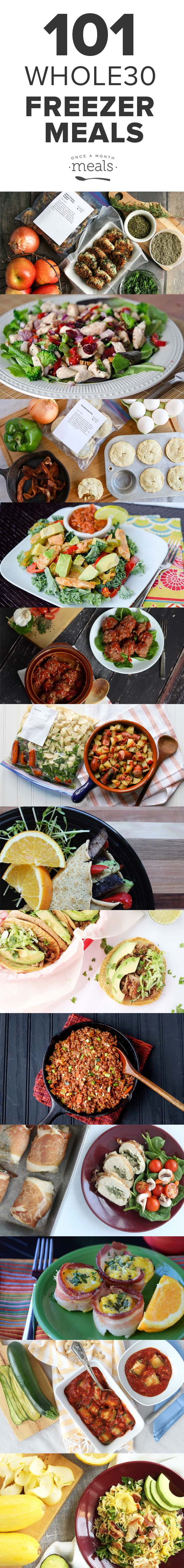 Don't get caught wondering what to eat! We have 101 recipes in a wide variety of flavors that can be cooked and frozen ahead of time so you finish your Whole30.