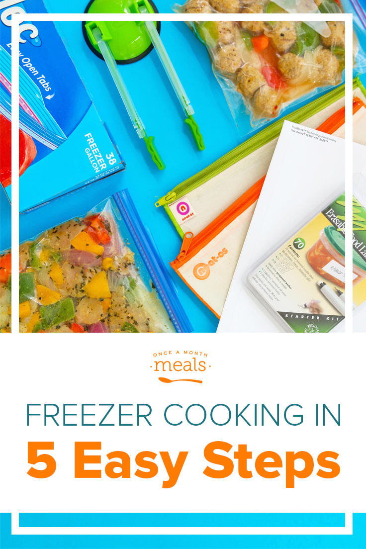 In order to help you start freezer cooking quickly, we have five easy steps and a list of great posts from our Get Started series.