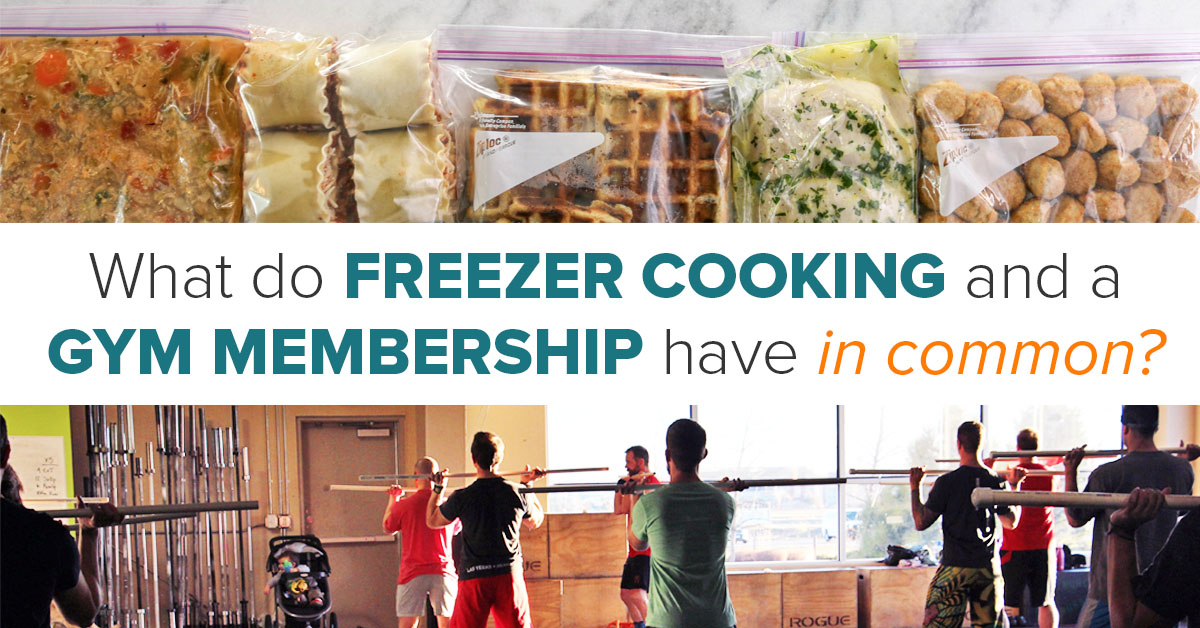 What do freezer cooking and gym memberships have in common? Find out what Kelcey learned when she started doing both regularly!