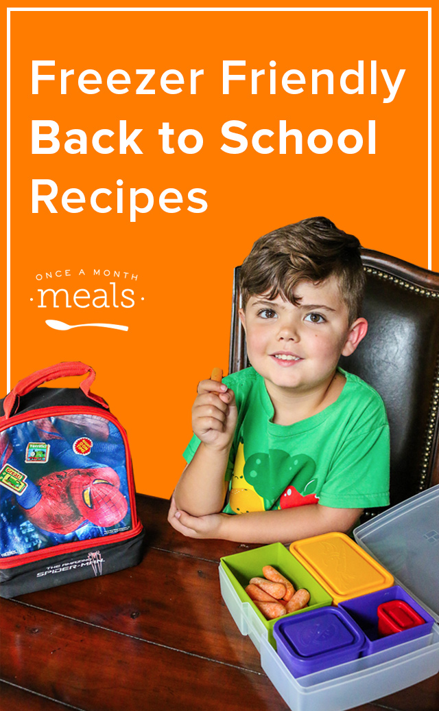 Here is a quick reference list of our favorite freezer friendly back to school recipes to simplify your lunchtime routine.