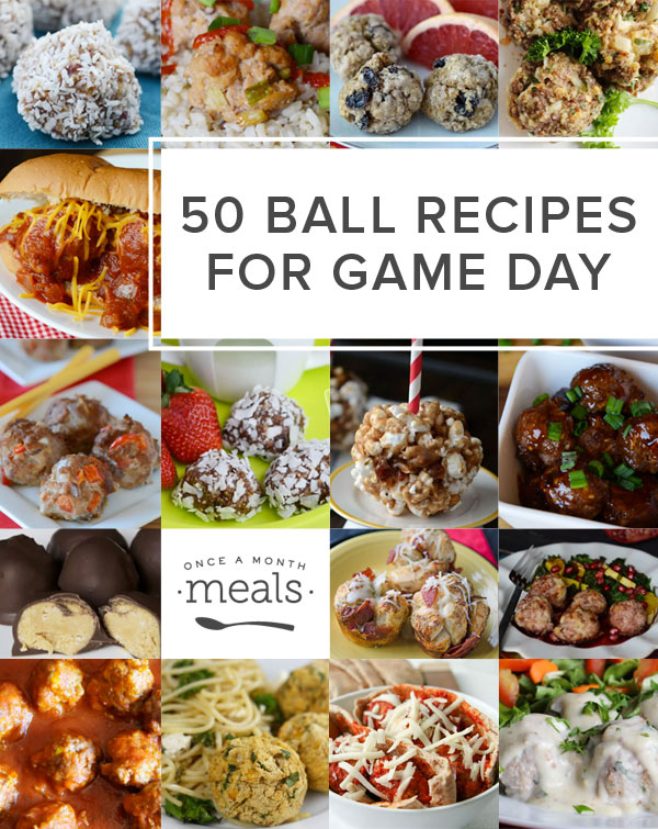 What do you eat during the big game? Here are 50 freezer friendly, finger food, ball recipes for game day madness!