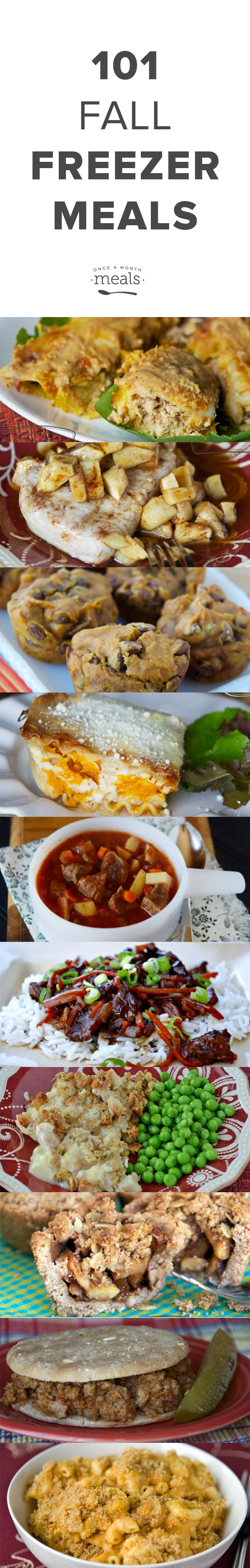 The air is cool, the leaves are turning and dreams of soups, stews and chilis are dancing in your head! Here are our favorite Fall recipes complete with freezing instructions you can make tons of them ahead and freeze them for the perfect Fall day.