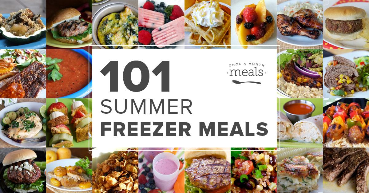 101 Summer Freezer Meals