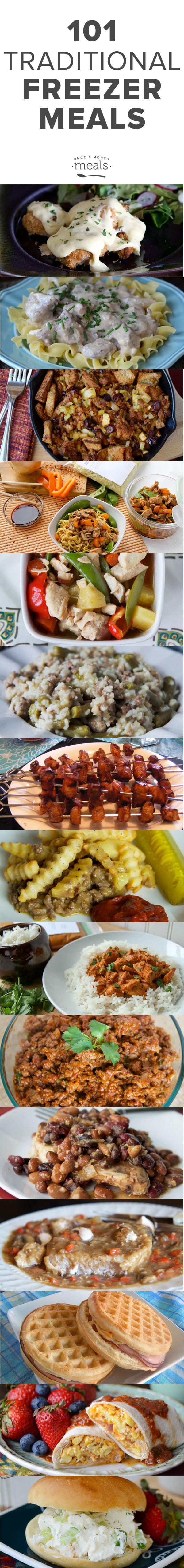 101 Traditional Freezer Meals