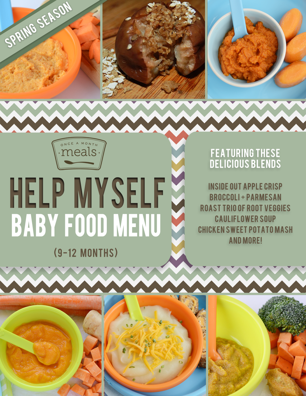 Baby food 9 12 months spring menu once a month meals forumfinder Gallery