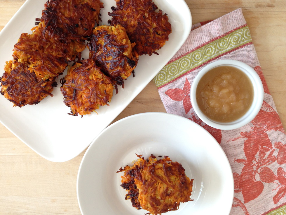 Vegetarian Sweet Potato Latkes