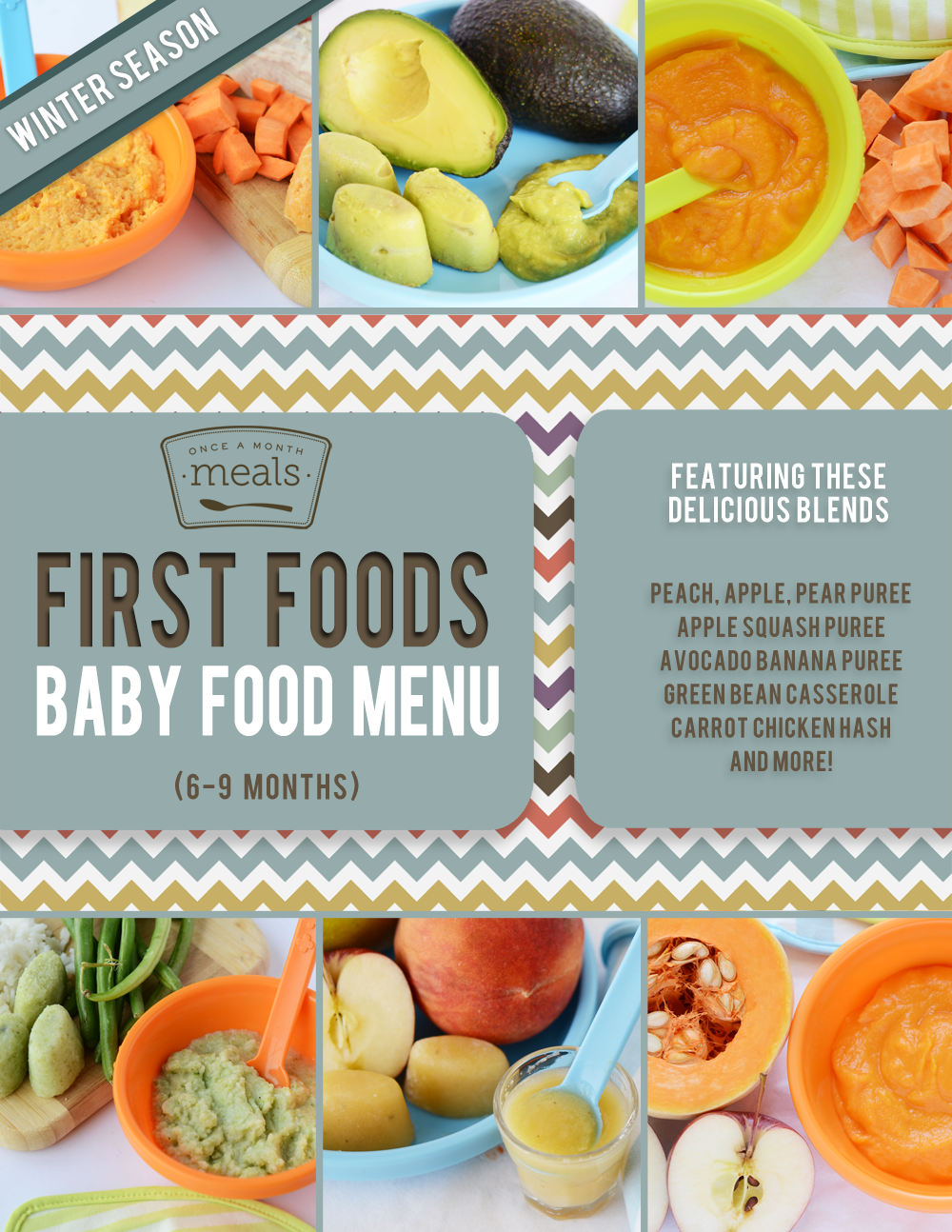 First foods 6 9 months winter baby food menu once a month meals forumfinder Choice Image