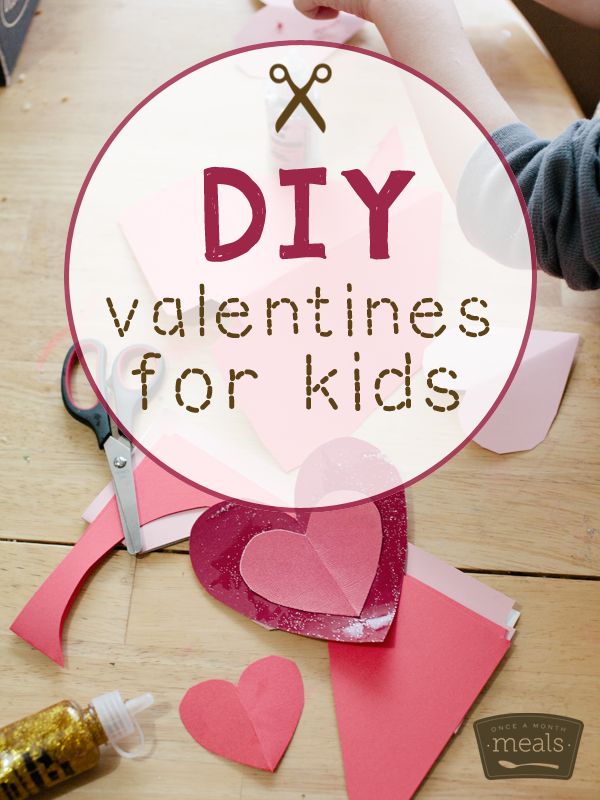 Diy Valentines For Kids And Homemade Playdough Recipe Once A Month Meals