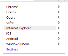 Select your user-agent