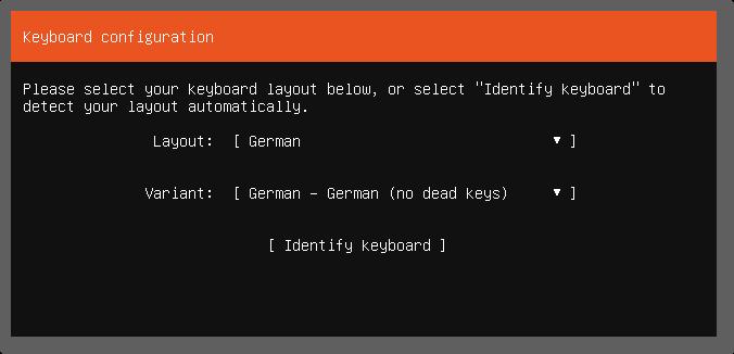The Keyboard Configuration Screen