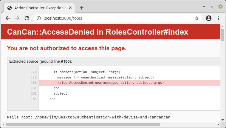CanCan::AccessDenied error when accessing Roles