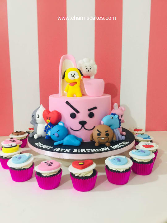 Custom Cake Bt21 Charm S Cakes And Cupcakes