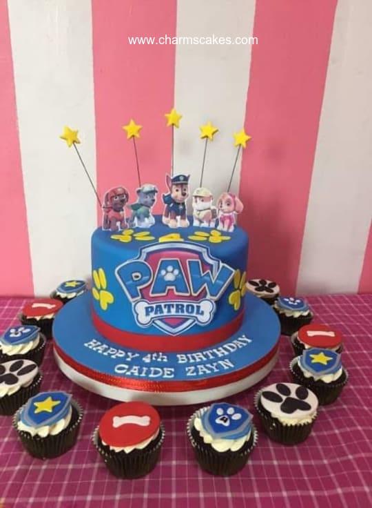 Custom Cake Paw Patrol Caide Charm S Cakes And Cupcakes
