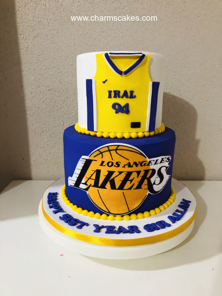 Astounding Custom Cake Lakers Charms Cakes And Cupcakes Funny Birthday Cards Online Sheoxdamsfinfo