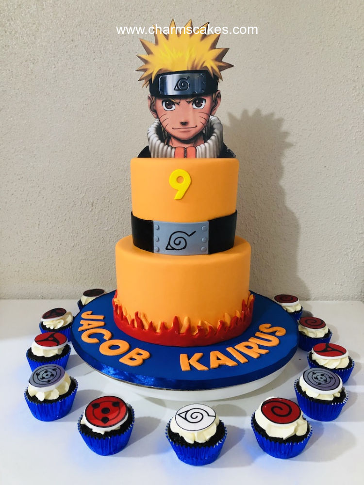 Sensational Custom Cake Naruto Charms Cakes And Cupcakes Personalised Birthday Cards Sponlily Jamesorg