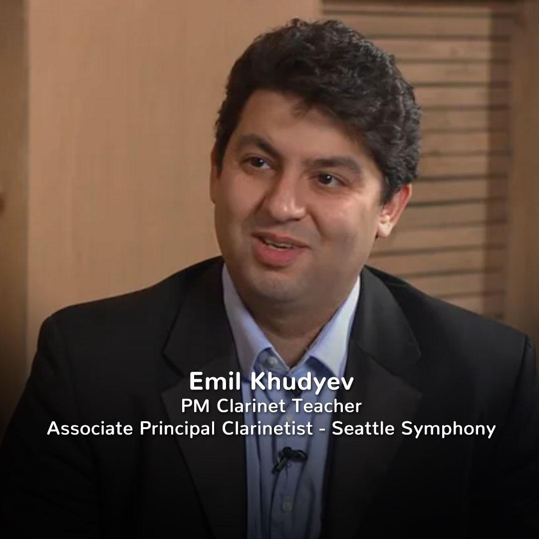 Emil Khudyev, Practicing Musician Clarinet Teacher