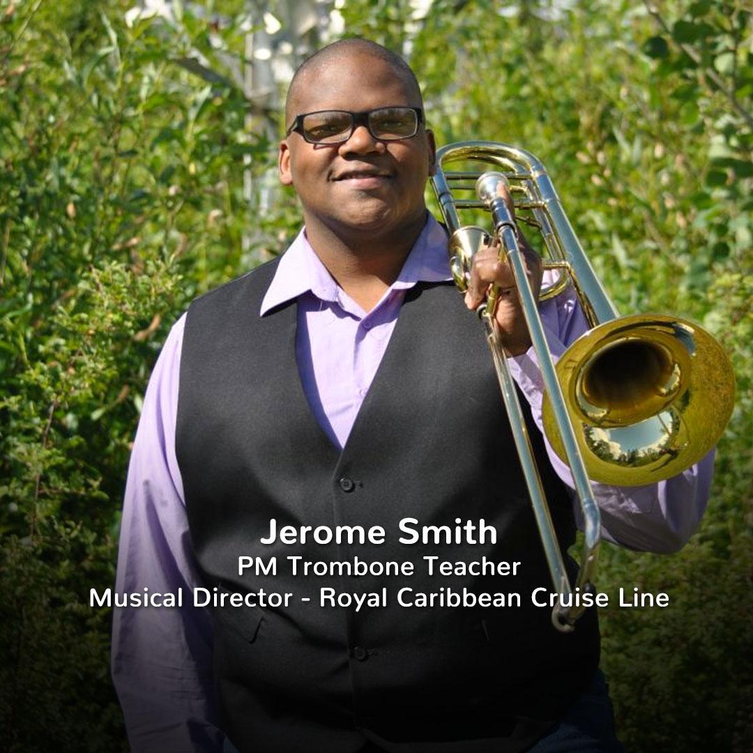 Practicing Musician Trombone Teacher Jerome Smith