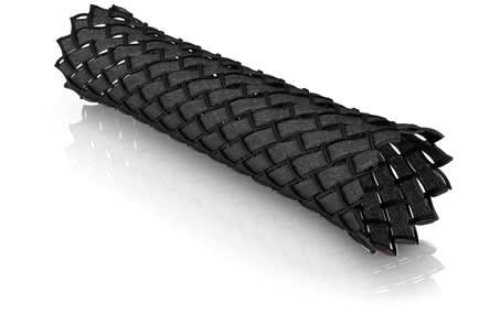 ViaBlue Gewebeschlauch BLACK medium | 6 - 17 mm