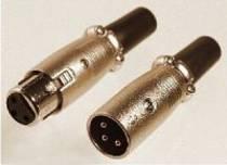 In-Akustik XLR Stecker / Kupplung (bis 8 mm)