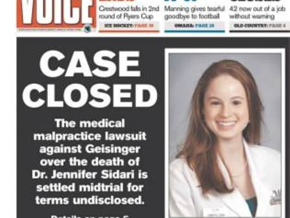 Matt Casey Reaches Major Settlement In Dr. Sidari Case