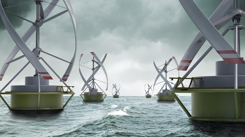 Prekubator Wind Farm - 3D Rendering