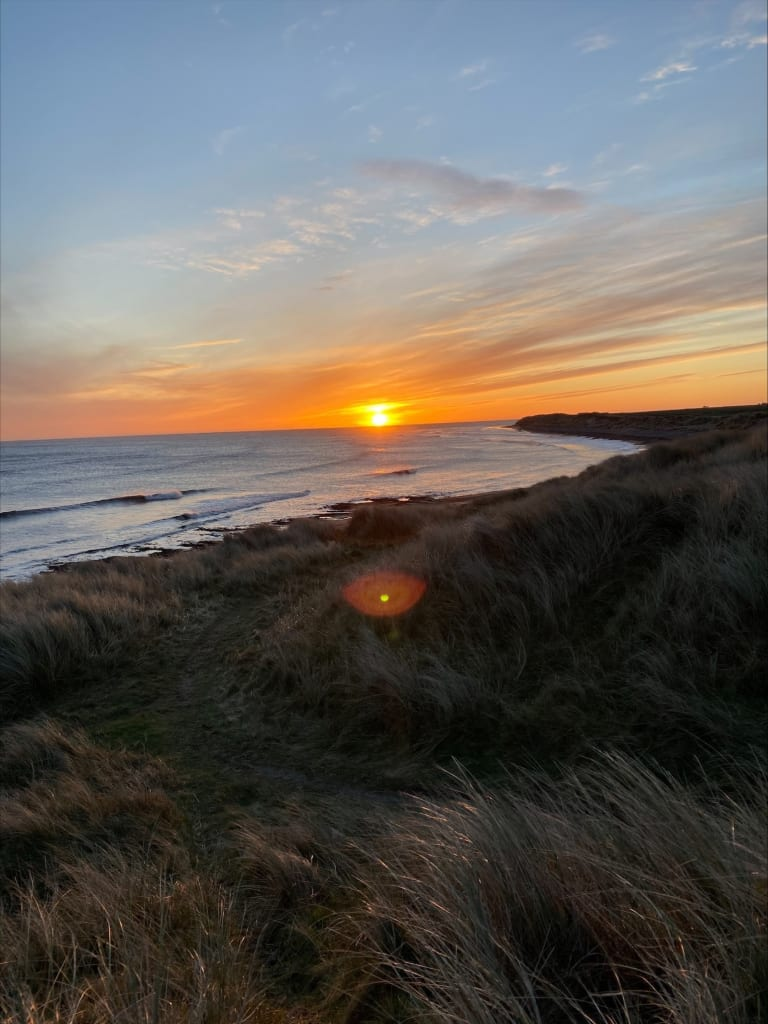 Newcastle-Sunrise-over-sea-768x1024 Photographing 27 Sites in 48 Hours.