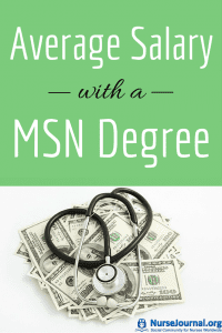 Average Salary with a MSN Masters Degree