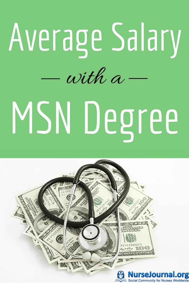 Average Salary With A Msn Nursing Degree 2018 Nursejournal