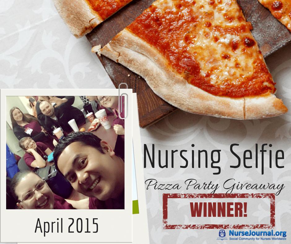 Nursing Selfie Pizza Party Winner April 2015