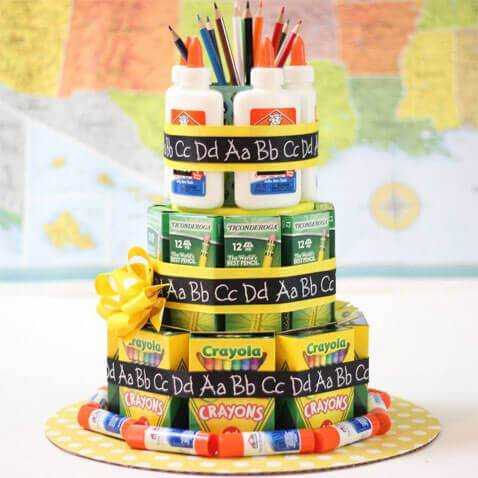 School Supply Cake Gift
