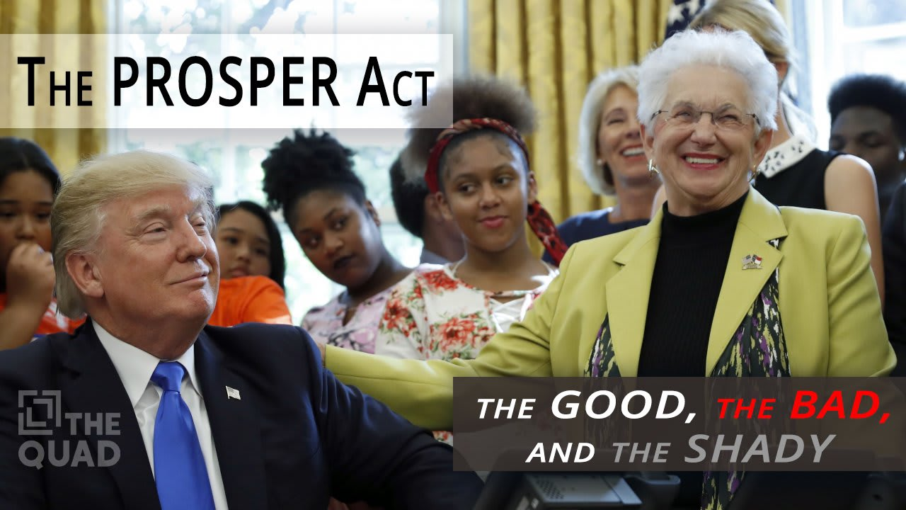 U S Senate Education Bill Betrays Laws >> The Prosper Act The Good The Bad And The Shady The Quad Magazine