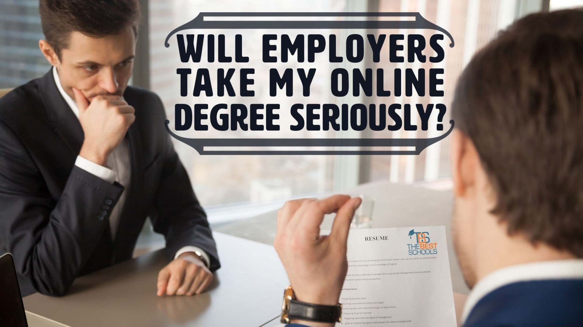 Will Employers Take My Online Degree Seriously