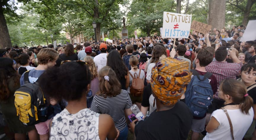 Colleges Confront Racist Legacies by Changing Names, Removing Statues
