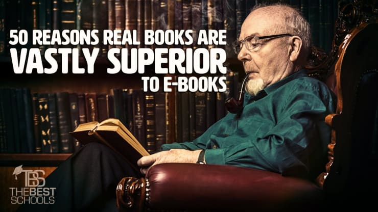 50 Reasons Real Books are Vastly Superior to Ebooks | The