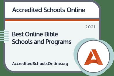 Best Online Bible Schools and Programs badge