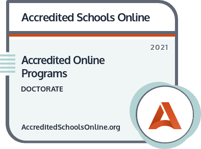 Accredited Online Ph.D. Programs badge