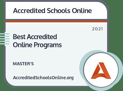 Best Accredited Online Master's Programs badge