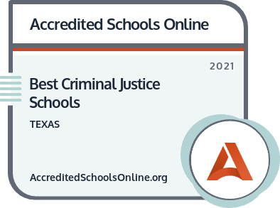 Criminal Justice Schools in Texas badge