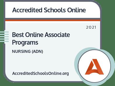 Best Online Associate in Nursing Programs badge