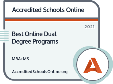 Online Dual-Degree MBA and MS Programs badge