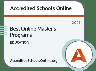 Best Online Master's in Education Programs badge
