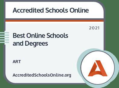 Best Online Art Schools and Degrees badge