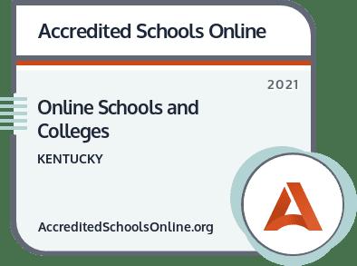 Online Schools and Colleges in Kentucky badge