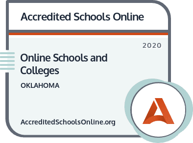 Online Schools and Colleges in Oklahoma badge