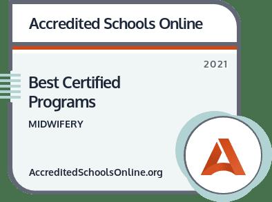 Best Certified Midwifery Programs badge