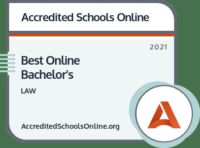 Best Online Law Degree Programs badge